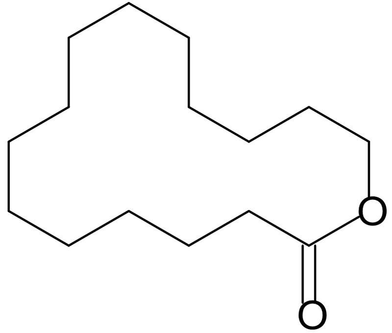 ペンタデカラクトン構造式