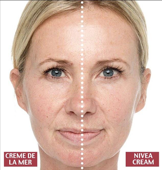 ニベアドゥ・ラ・メール比較実験顔写真